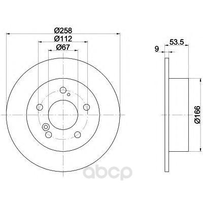 Тормозной диск HELLA PAGID 8DD355100961