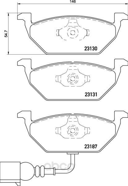 Колодки тормозные дисковые передние audi a2, ibiza iv, v Textar 2313101 фото