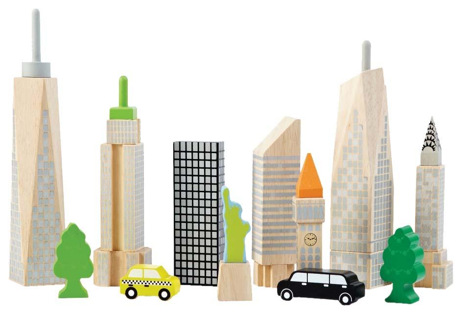 Купить Конструктор деревянный Wonderworld Городские небоскрёбы WW-2517, Деревянные конструкторы
