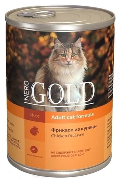 Консервы для кошек NERO GOLD, курица, 410г