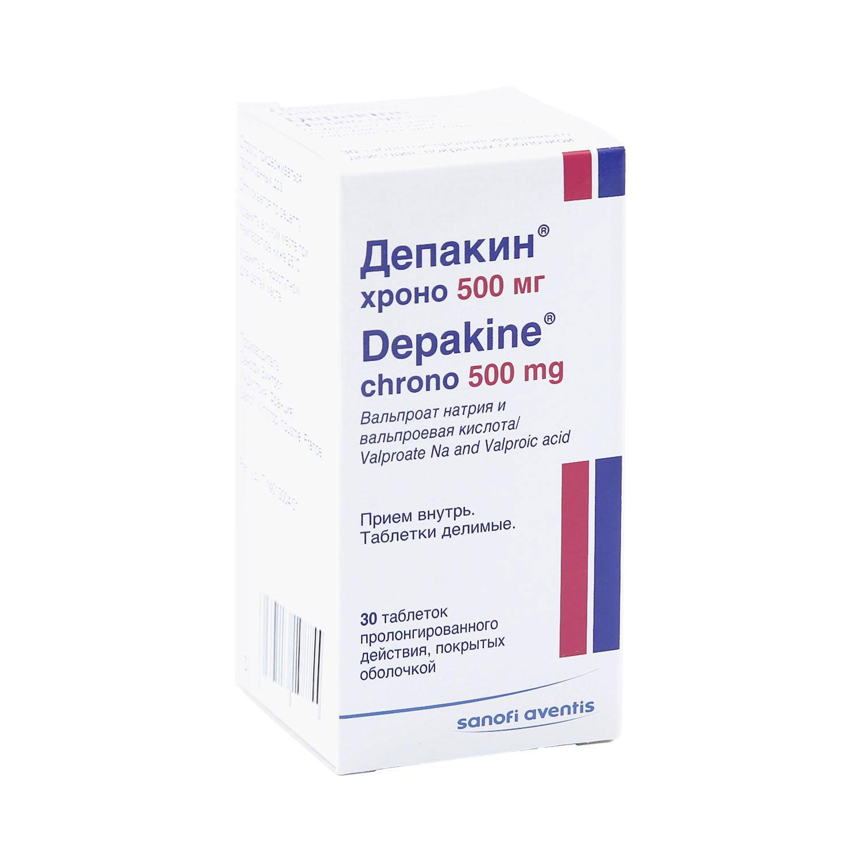 Депакин хроно таблетки 500 мг 30 шт.