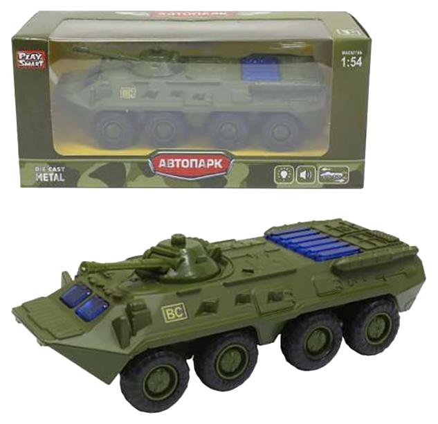 Купить Легковая машина Play Smart Автопарк БТР 80 6409D Зеленый, PLAYSMART, Военный транспорт
