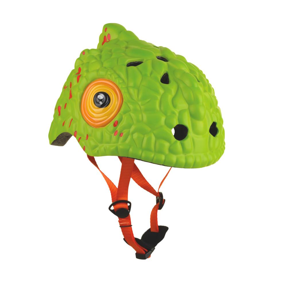 Купить Шлем защитный детский Crazy Safety 2018 Green Cameleon зелёный,