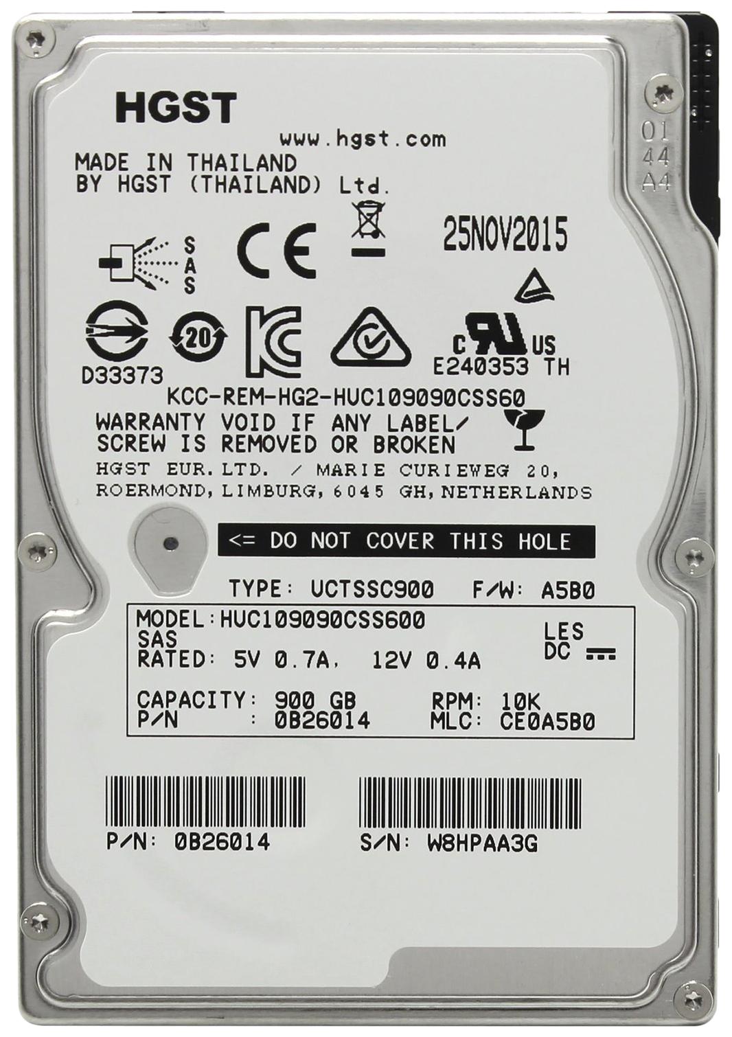 Внутренний жесткий диск HGST Ultrastar C10K900 900GB