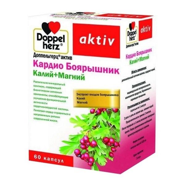 Купить Доппельгерц Актив Кардио Боярышник К+Mg 60 шт. капс., Queisser Pharma
