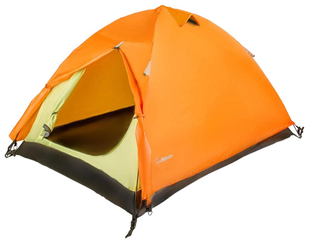 Туристическая палатка Larsen A2 оранжевая/серая