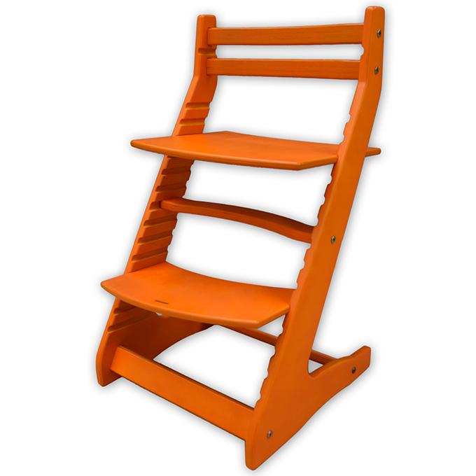 Стул для кормления Вырастайка оранжевый