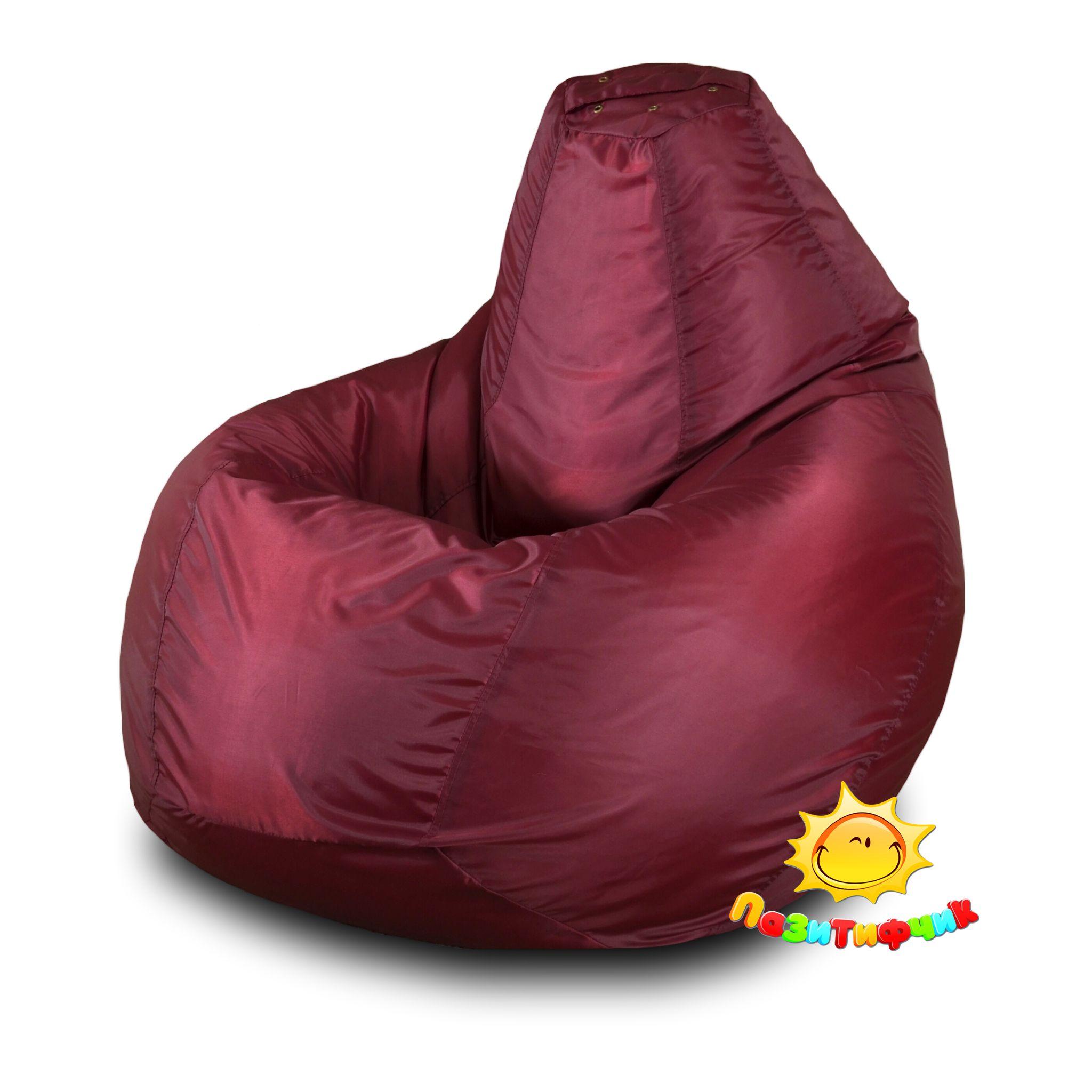 Кресло-мешок Pazitif Груша Пазитифчик Оксфорд, размер XL, оксфорд, бордовый фото