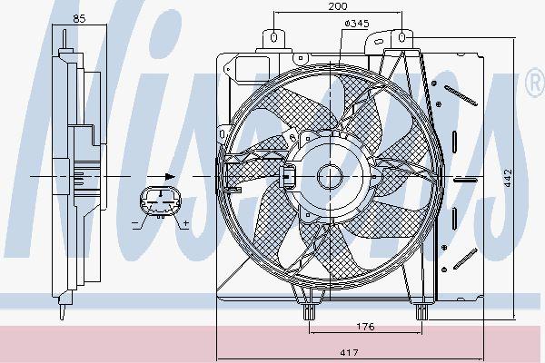Вентилятор охлаждения двигателя NISSENS 85991