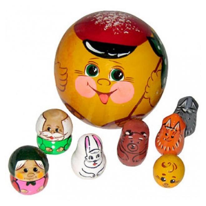 Купить Деревянная игрушка Русские народные игрушки Пальчиковый театр Колобок Р-45/780, Развивающие игрушки