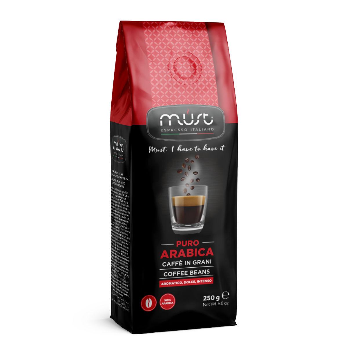 Кофе в зернах Must pure arabica 250 г