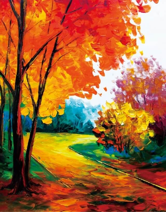 Алмазная живопись Цветной LG087 «Золотые краски осени»