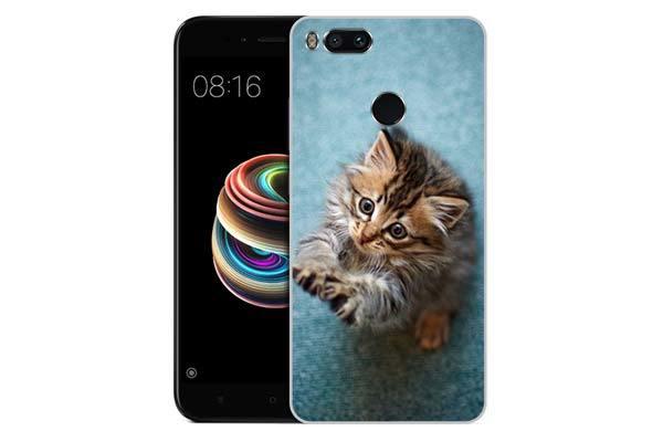 Чехол Gosso Cases для Xiaomi Mi 5X «Котёнок на голубом»