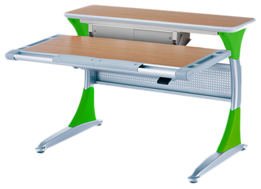 Купить Ученический стол Comf-Pro Гарвард с ящиком 00045-6 Бук/Зеленый, Детские столики