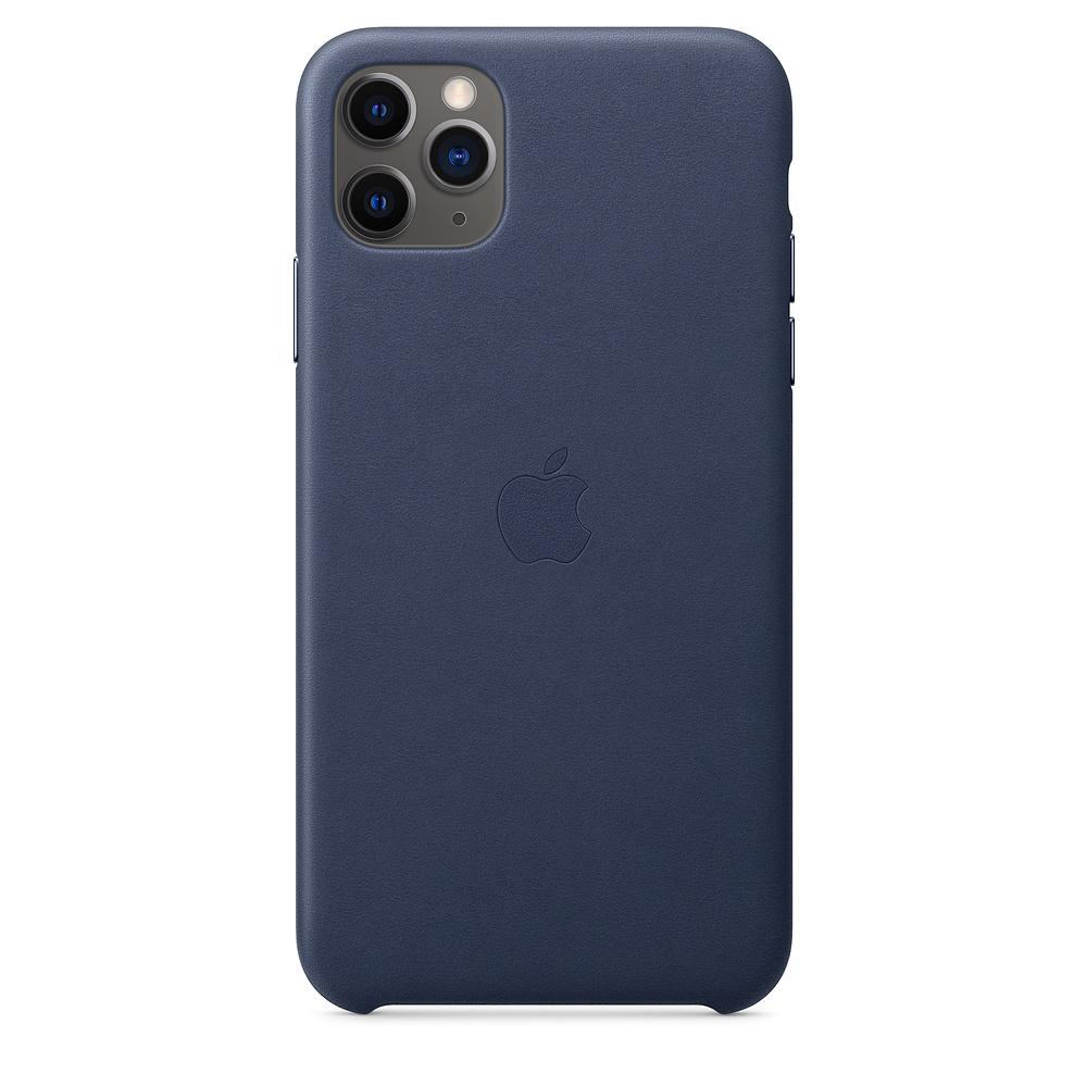 Чехол Apple для iPhone 11 Pro Max Leather Case - Midnight Blue