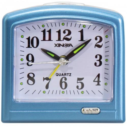 Часы будильник VT Часы будильник настольные голубые