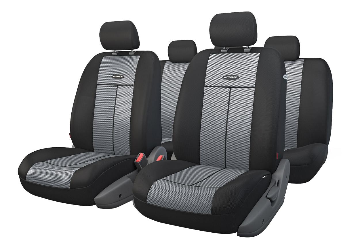 Комплект чехлов на сиденья Autoprofi TT-902M BK/D.GY фото