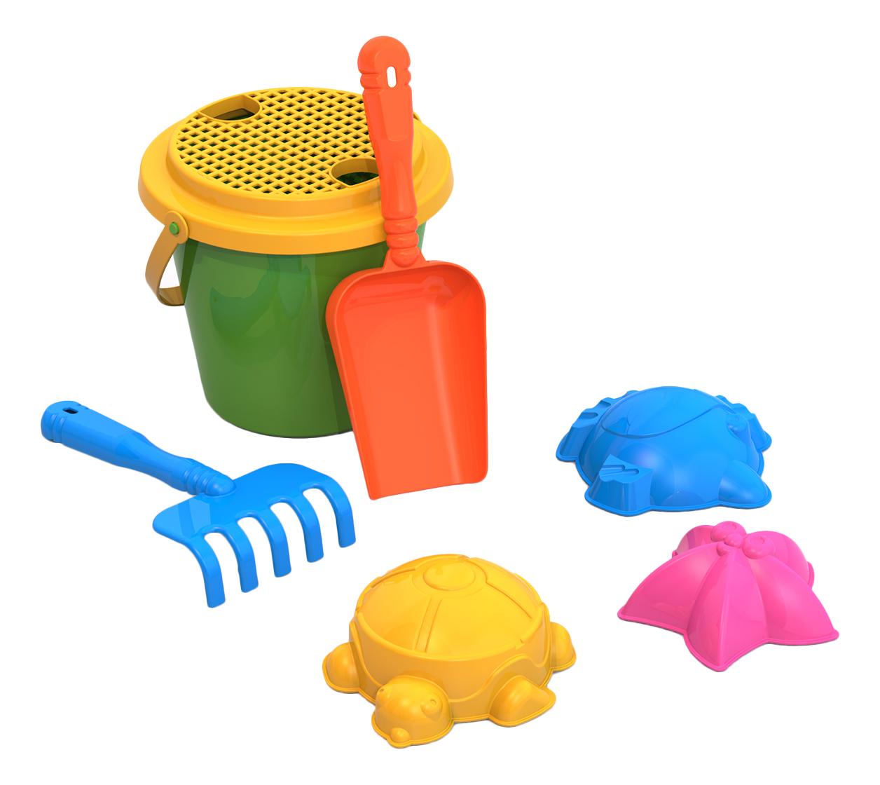Купить Набор для песка № 11 (сито+003+004+029+мал, ведро), НОРДПЛАСТ, Песочные наборы