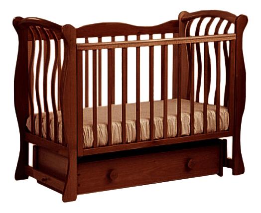 Купить Ландыш 07, 2 темный орех, Кровать-маятник Лель Ландыш 07, Детские кровати
