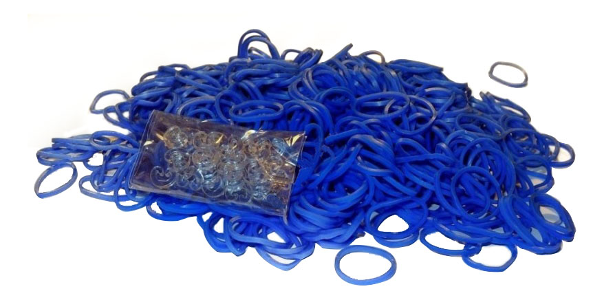 Плетение из резинок Rainbow Loom Jelly Bands navy-blue