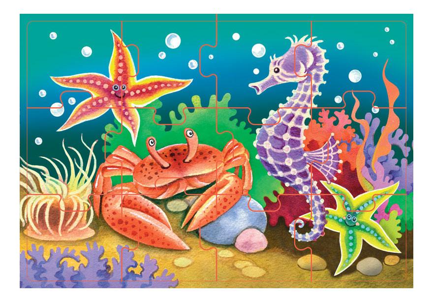 Купить Морские Жители, Пазл Step Puzzle Морские Жители, Пазлы