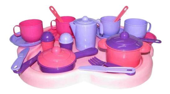 Набор посуды игрушечный Полесье Набор детской посуды Янина П-4060