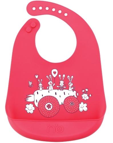 Нагрудник Happy Baby Bib pocket 16006 Red