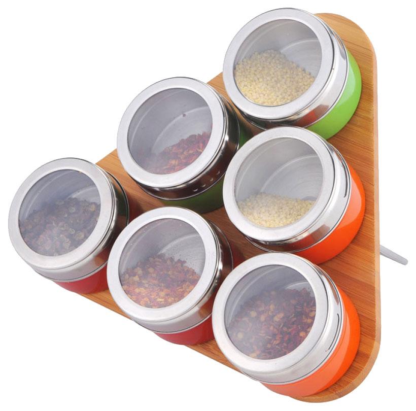 Набор для специй Bekker 23521 Серебристый, коричневый, зеленый, красный, оранжевый