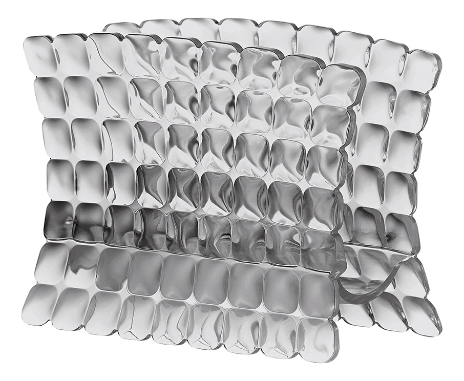 TIFFANY Салфетница, пластик, серый