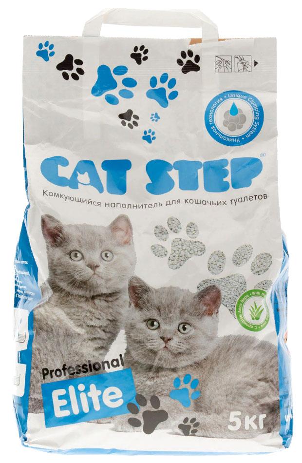 Комкующийся наполнитель туалета для кошек Cat Step Professional Elite алоэ вера 5 кг фото