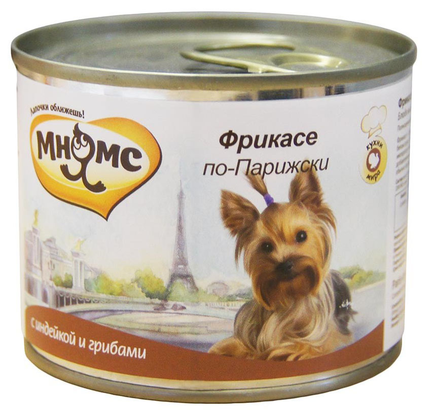 Консервы для собак Мнямс Фрикасе по-Парижски, индейка с пряностями, 200г