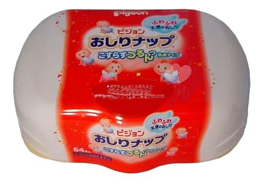 Детские влажные салфетки Pigeon Влажные с косметическим молочком 64 шт.