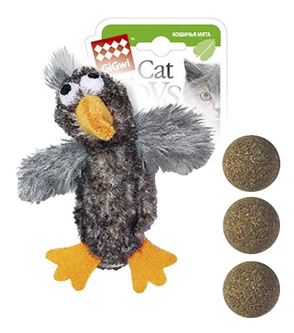 Мягкая игрушка для кошек Gigwi, Искусственный мех, с кошачьей мятой 13 см