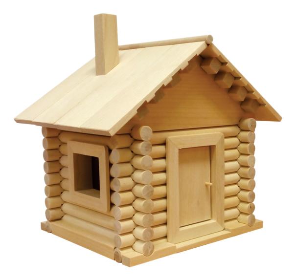 Конструктор деревянный Пелси Заюшкина избушка фото