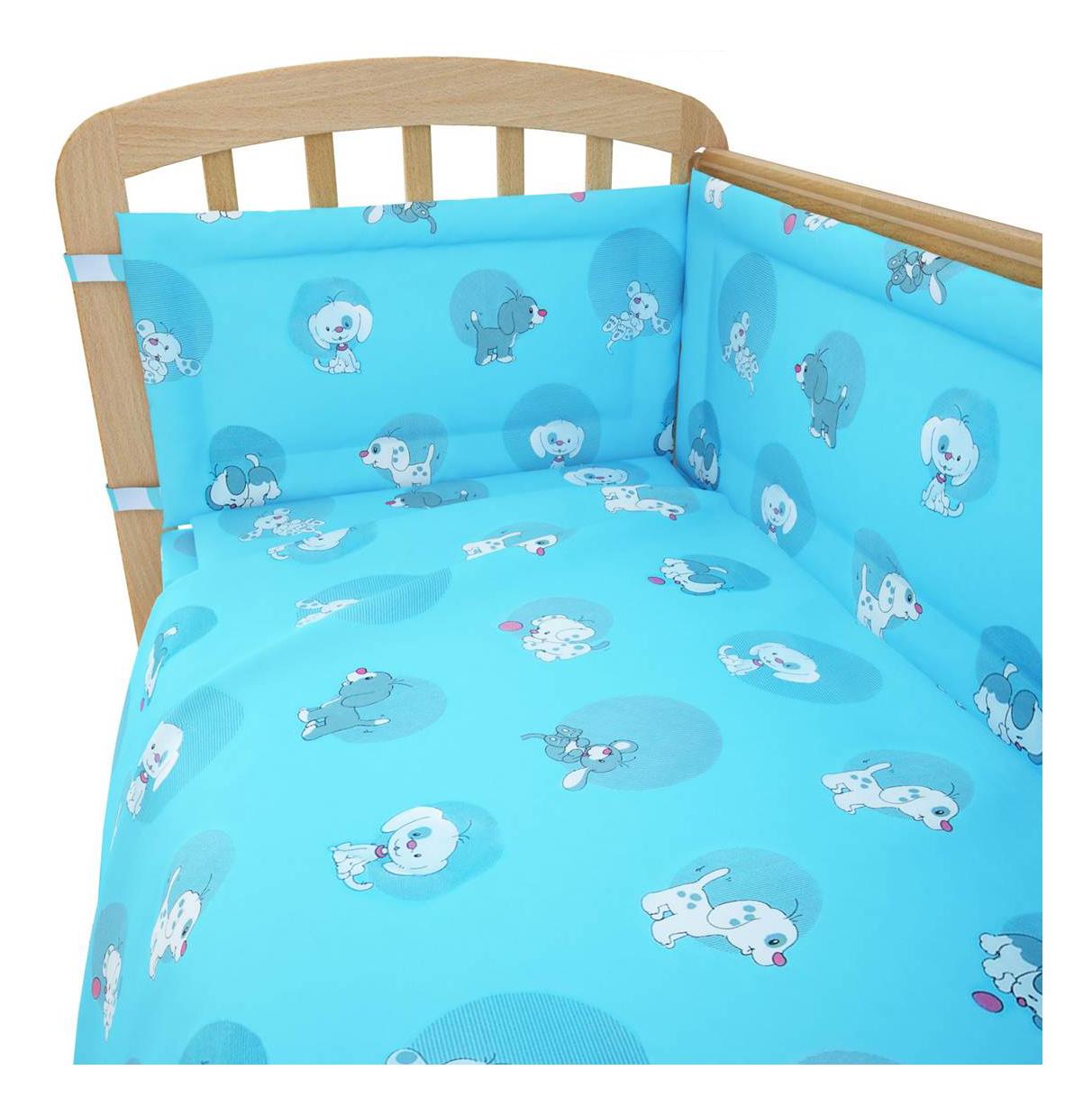 Комплект детского постельного белья Фея Наши друзья голубой Комплект белья Фея Наши друзья, голубой