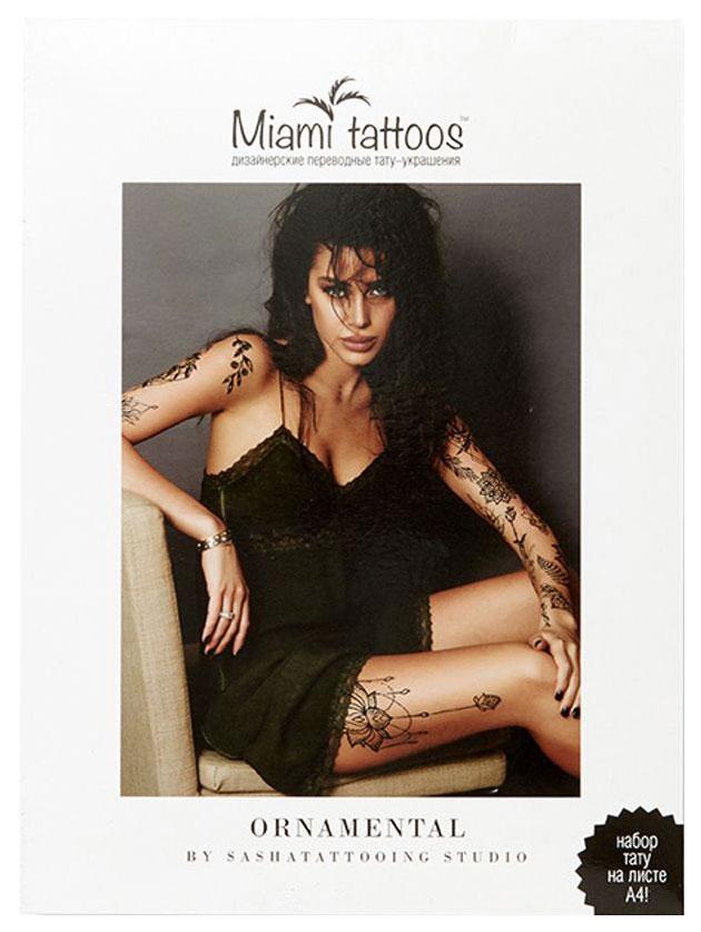 Переводные тату Miami Tattoos Ornamental by SashaTattooing Studio