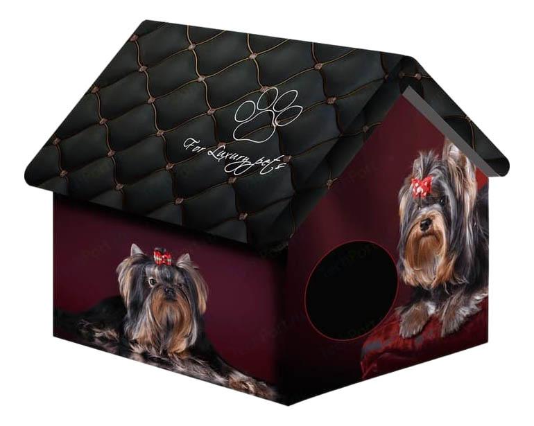 Домик для собак PerseiLine Дизайн черный, бордовый