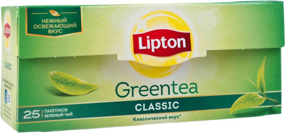 Чай зеленый Lipton classic 25 пакетиков фото