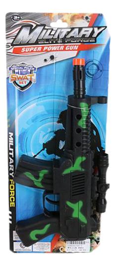 Купить Механический автомат, Механический детский Автомат трещотка военный Shantou Gepai 555-3, Стрелковое игрушечное оружие