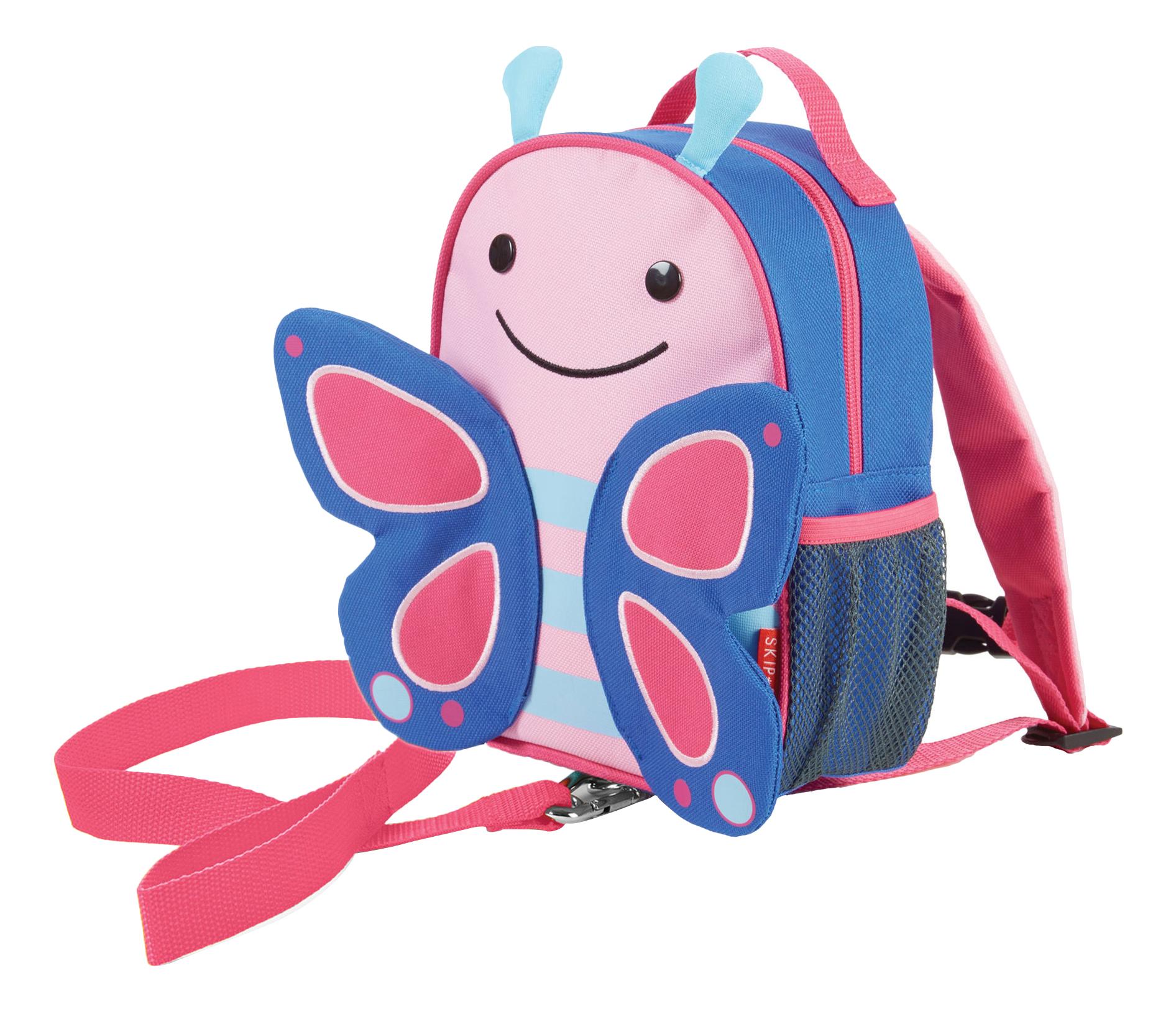Купить Рюкзак детский Skip Hop с поводком Бабочка SH 212202, Школьные рюкзаки и ранцы