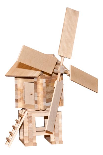 Конструктор деревянный ПЕЛСИ Ветряная мельница