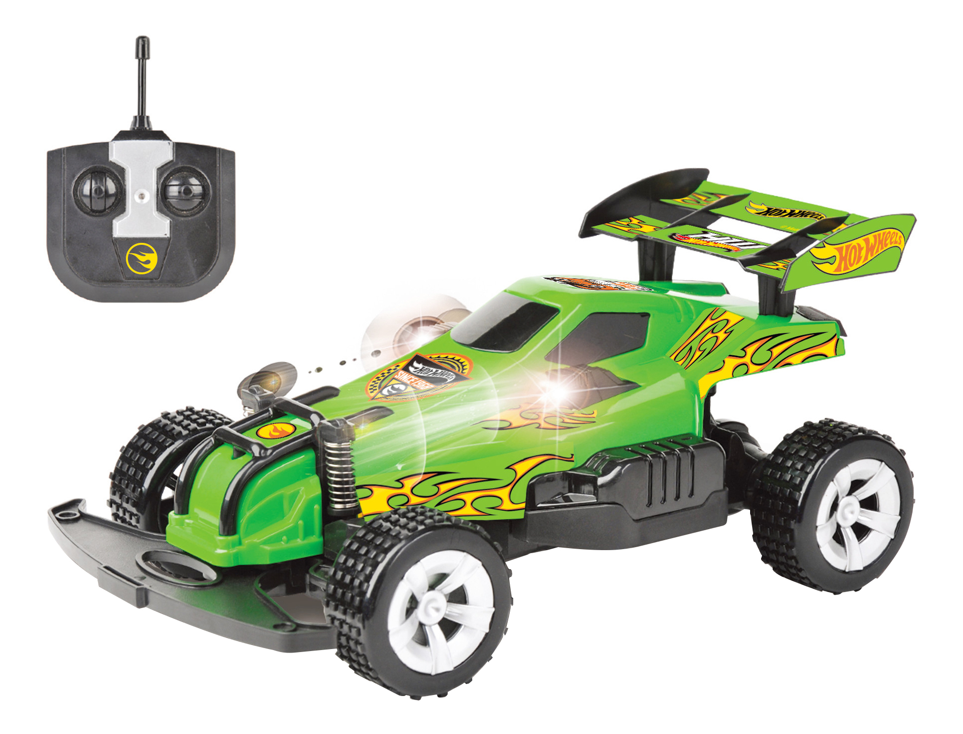 Купить Радиоуправляемая машинка Hot Wheels багги зелёная 1 TOY Т10975, Радиоуправляемые машинки