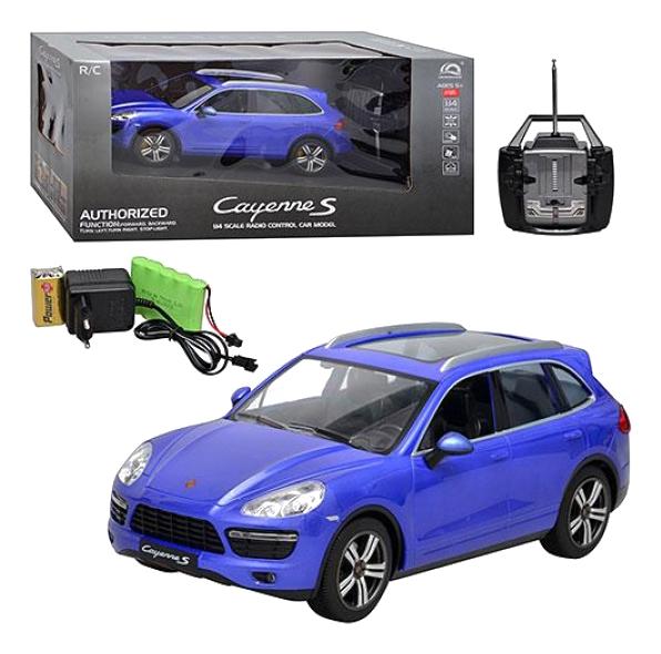 Купить Машина р/у porsche cayenne s на аккум свет синяя 1:14 М60811, Машина р/у Porsche Cayenne S на аккум. синяя 1:14 Gratwest М60811, Радиоуправляемые машинки