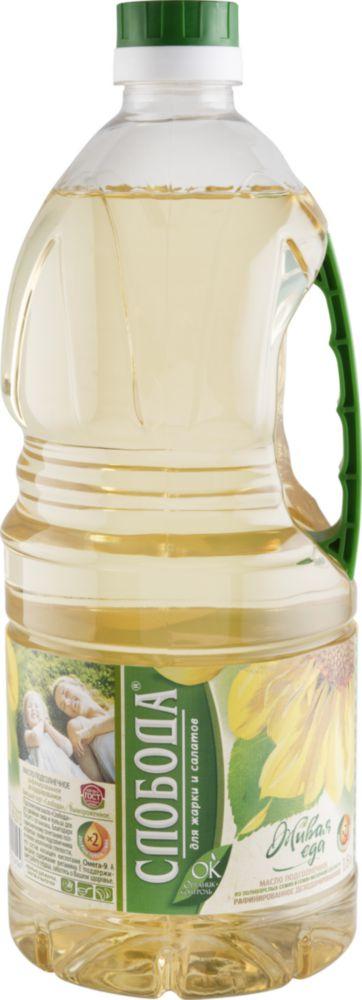 Масло подсолнечное Слобода рафинированное дезодорированное 1.8 л