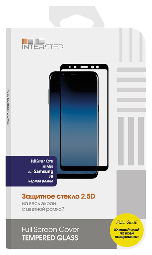 Защитное стекло NoBrand для Samsung Galaxy J8 (2018) Black Full Screen Cover Full Glue для Samsung J8. Black