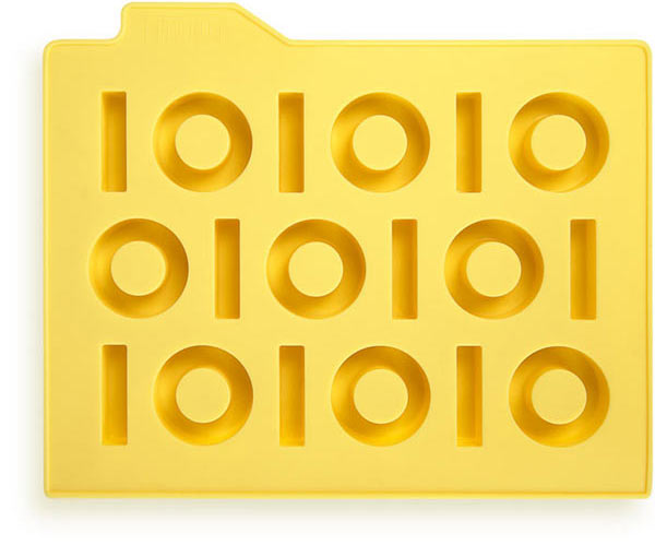 Форма для льда «Бинариус» (желтый)
