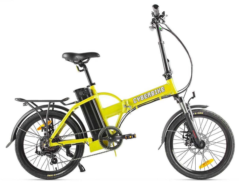 """Электровелосипед Cyberbike Line 2019 18"""" желтый"""