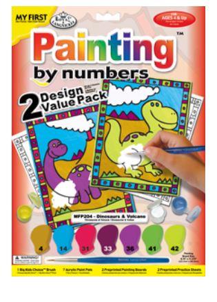 Раскраска по номерам для малышей \