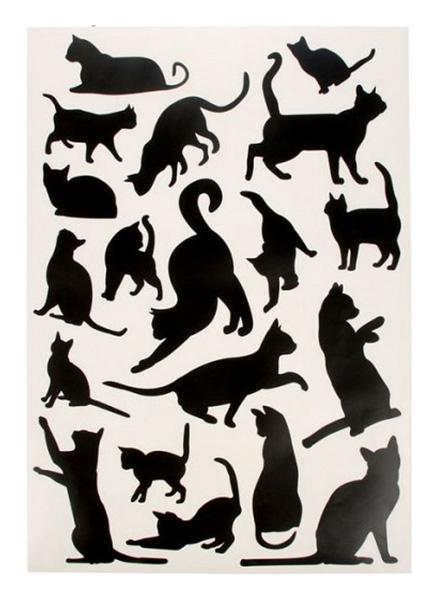 Купить Наклейки Грациозные кошки Decoretto, Аксессуары для детской комнаты