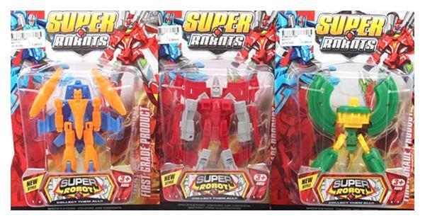 Купить Игрушка пласт.Супер Робот, CRD 24x17x6 см, 3 вида, арт.SD-111., Shenzhen Toys, Игровые фигурки